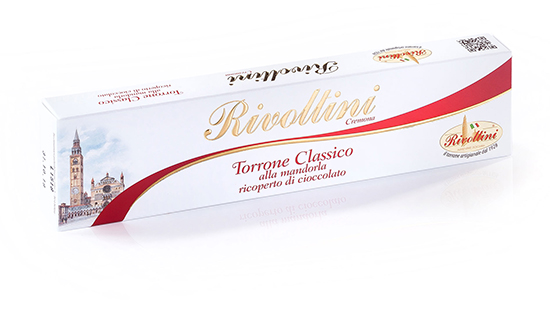 Nougat (Torrone) covered with Chocolate, Rivoltini