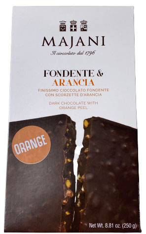 Orange Dark Chocolate Tile, Majani