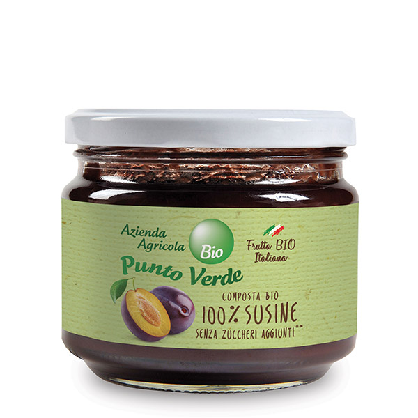 Organic 100% Plums Jam (No Sugar Added), Punto Verde
