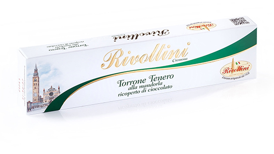 Soft Nougat (Torrone) covered with Chocolate, Rivoltini
