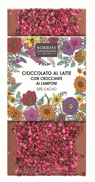 Raspberry Brittle Milk Chocolate 32%, Boella & Sorrisi